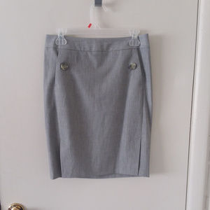 The Limited Gray Pocketed Double Side Slits Skirt